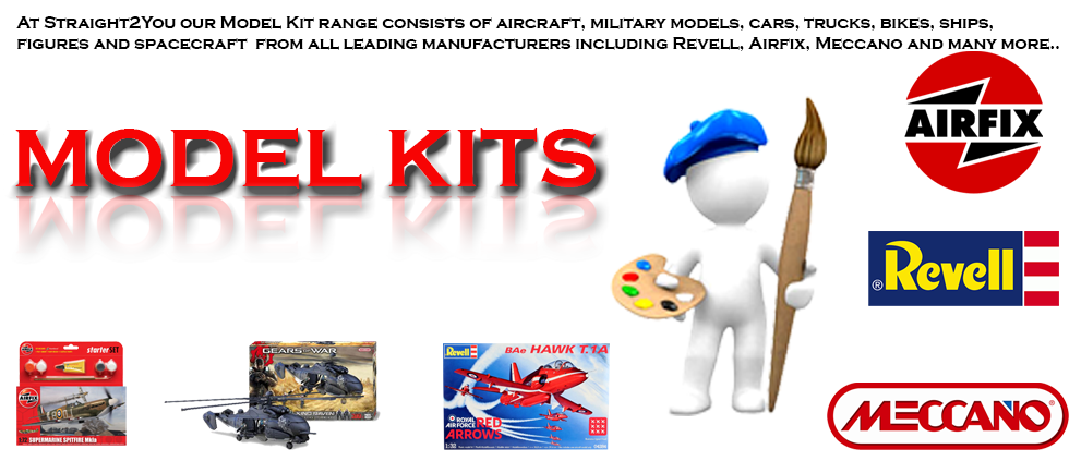 Model Kits, gifts, revell, airfix, meccano, aircraft, military models, heilcopters, cars, trucks, bikes, ships, yacht, boat, war ships, figures, space craft