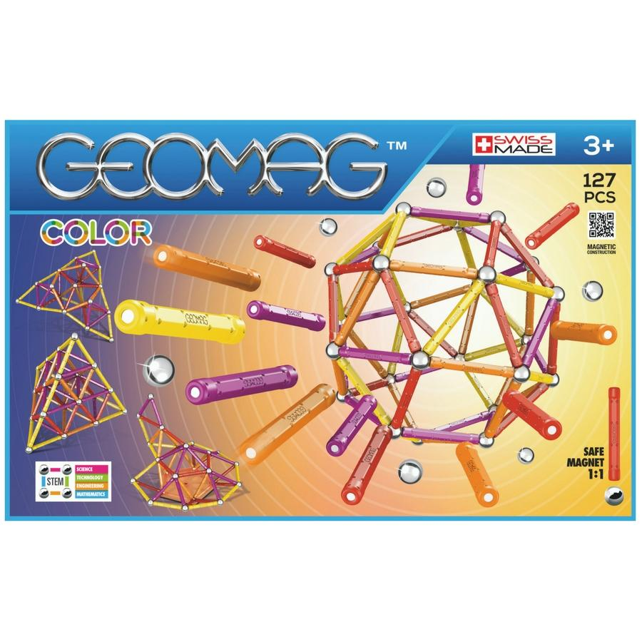 Kids Geomag 264 Magnetic Color Construction Set 127 Pcs Playset Gift