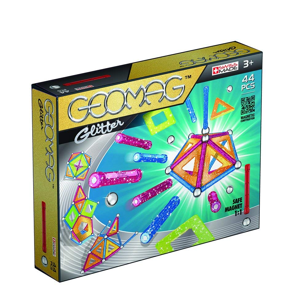 Kids Geomag 532 Magnetic Glitter Construction Set 44 Pcs Playset Gift