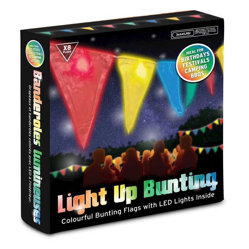Light Up Bunting With LED Outdoor Indoor Party Decoration